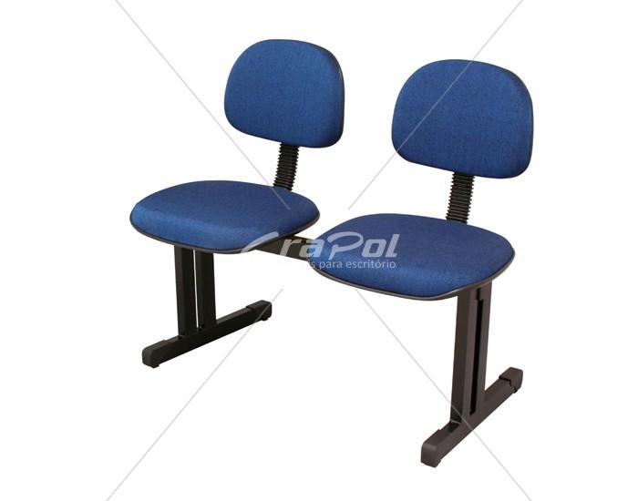 Cadeira Longarina Secretária - 02 Lugares - Dellus