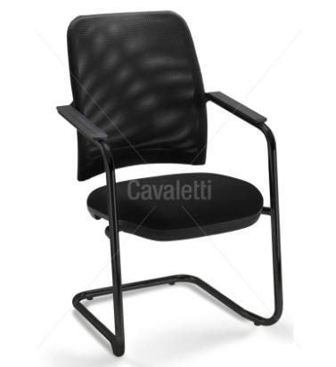 Cadeira para escritório fixa aproximação 16006 S - Estrutura Preta - Linha NewNet - Cavaletti