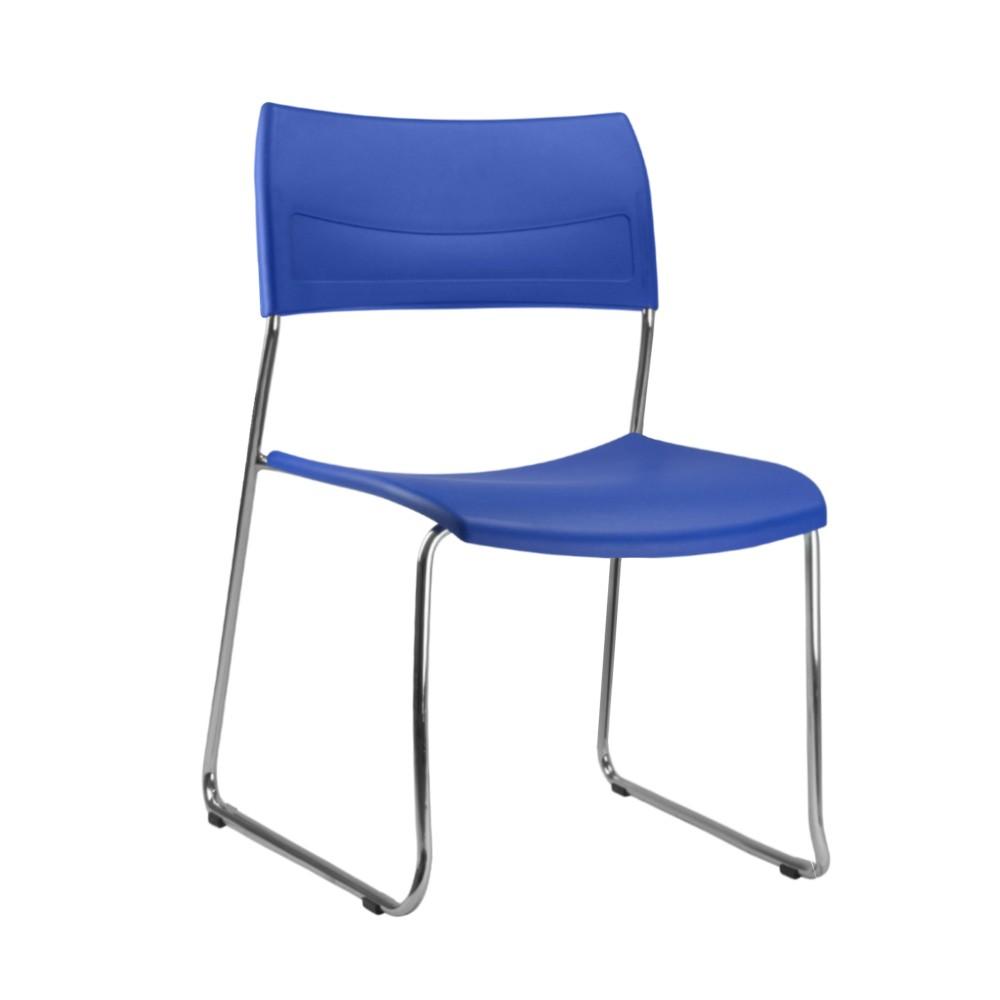 Cadeira Fixa NIN026 - Base Fixa Cromada - Linha Nina - Sem Braço - Frisokar