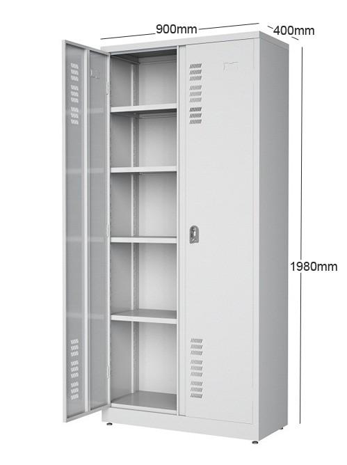 Armário 2 portas -  3 prateleiras reguláveis e 1 fixa -  Com fechadura - 1980mm X 900mmX 400mm -
