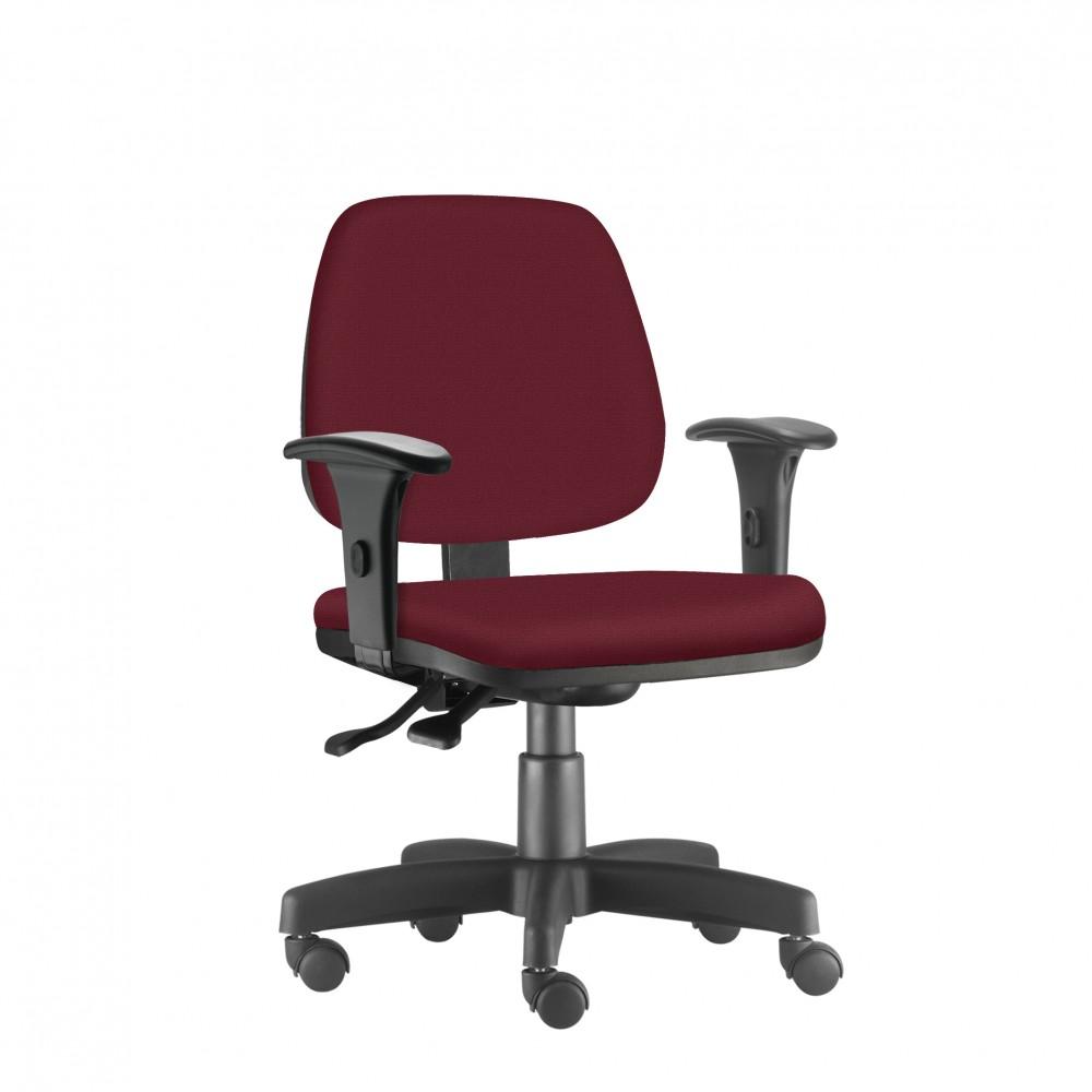Cadeira Para Escritório Diretor Giratória JOB059 - Mecanismo Evolution - Base Metálica com Capa - Linha Job - Com Braço PP- Frisokar