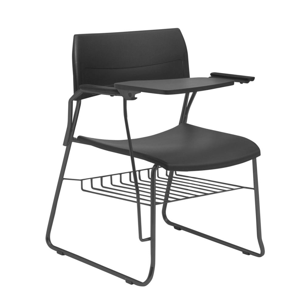 Cadeira Universitária NIN003 - Base Fixa Preta - Linha Nina - Com Prancheta - Com Gradil - Frisokar