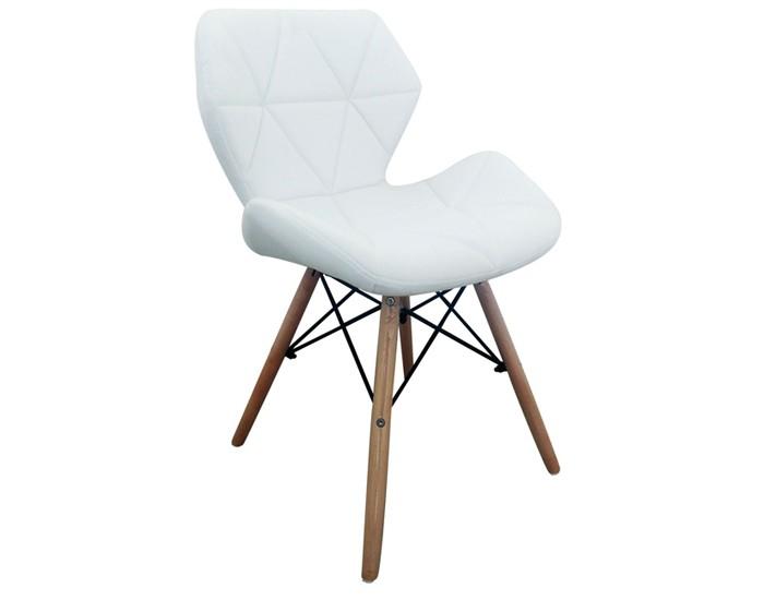 Cadeira Eames Slim - Estrutura em Madeira - Assento e Encosto Estofados