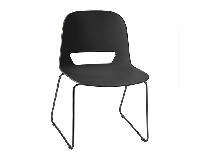 Cadeira Fixa KIN001- Base Fixa Preta - Linha Kind - Sem Braço - Frisokar