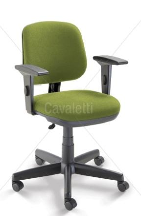 Cadeira para escritório Executiva Giratória 4103 BG - Linha Start - Braço SL - Cavaletti - Base Polaina
