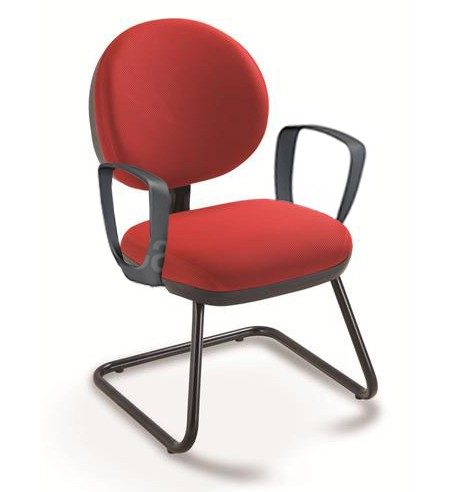 Cadeira Fixa Exec. Plus 8106 S Braço Loop, Inj. - Linha Stilo - Cavaletti