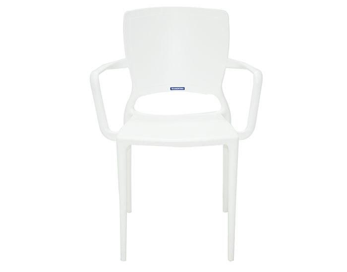Cadeira Tramontina Sofia com Braços Encosto Fechado em Polipropileno e Fibra de Vidro -