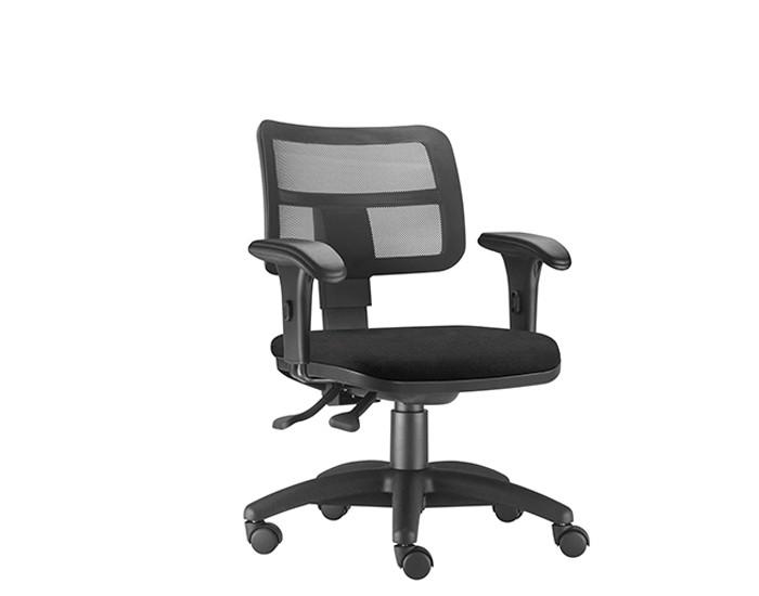 Cadeira Para Escritório Diretor Giratória ZIP415 - Mecanismo Evolution - Encosto em Tela - Base Nylon - Linha ZIP - Com Braço PP - Frisokar