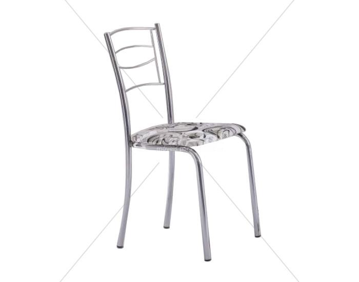 Cadeira 433 em Aço - Assento Quadrado - Encosto em Aramado - Estofada - Unimóvel