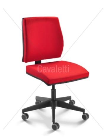 Cadeira para escritório giratória 37002 - BG - Linha Mais - Cavaletti - Base em Nylon