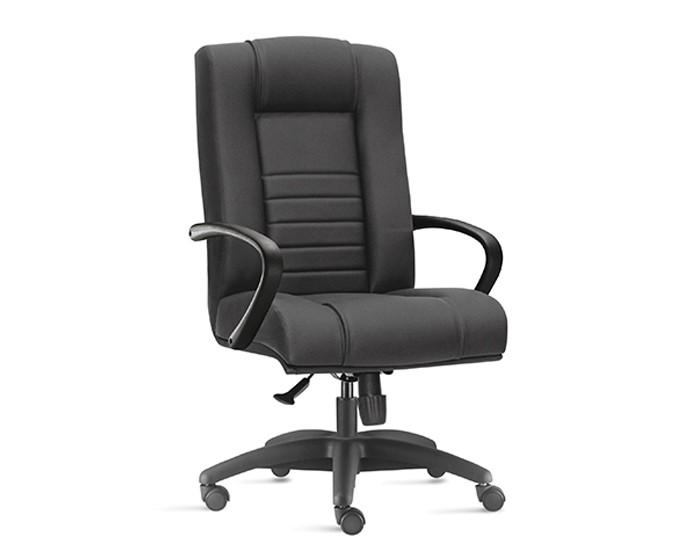Cadeira para Escritório Presidente Giratória ONI010 - Mecanismo Sincron - Base Nylon - Com Apoio de Cabeça -  Com Braço - Linha New Onix - Frisokar