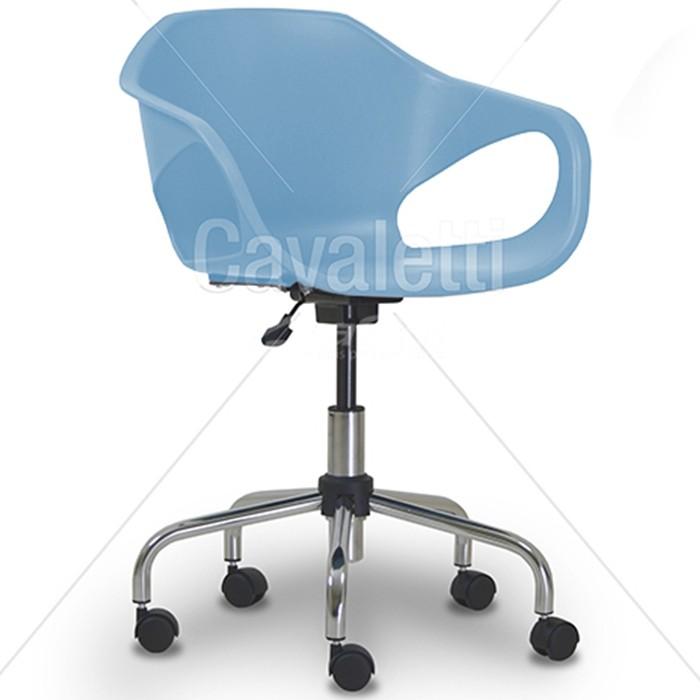 Cadeira para escritório giratória secretária plástica 33104 BG - Linha Stay - Cavaletti - Base Aranha Viva Cromada