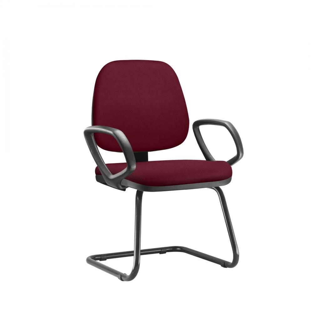 Cadeira Fixa JOBFX917 - Base SKL - Linha Job - Com Braço PU - Frisokar