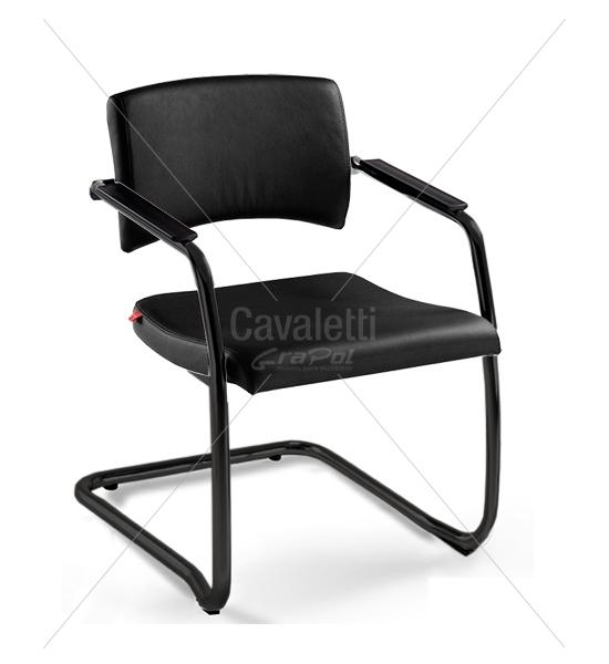 Cadeira para escritório fixa aproximação 18007 S -  ESTRUTURA PRETA - Linha Slim - Cavaletti -