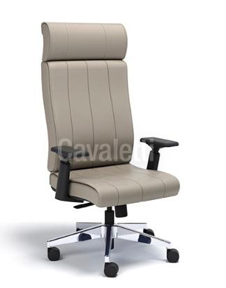 Cadeira para escritório giratória presidente 20501 - Syncron - Linha Essence - BRAÇO 4D - Cavaletti - Base Alumínio
