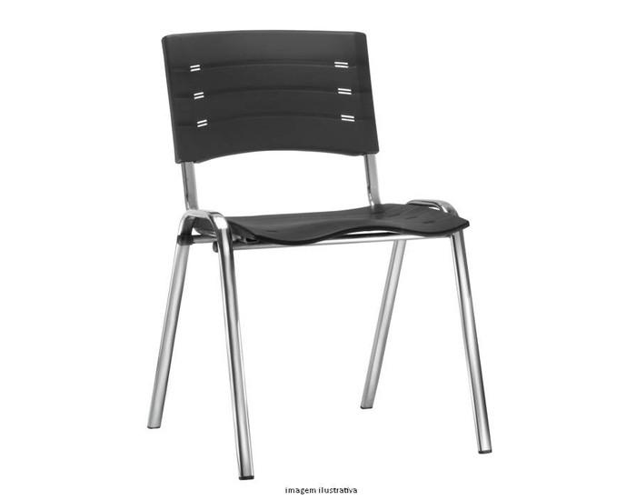 Cadeira Fixa NIS003 - Base Fixa Cromada - Linha NEW ISO - Sem Braço - Frisokar