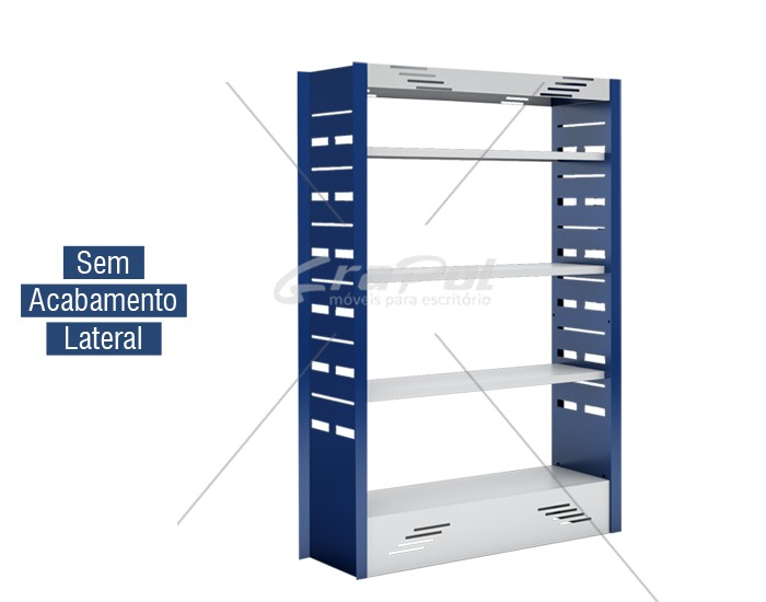 Estante Simples Face para Biblioteca  -  W-teca-  c/ 3 Prateleira + Base 1500 X 1000 X 315 mm
