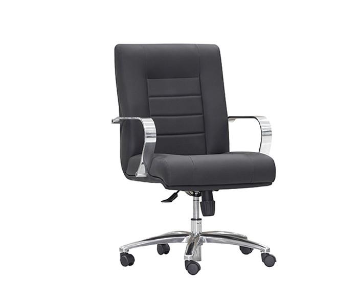 Cadeira para Escritório Diretor Giratória ONI013 - Mecanismo Sincron - Base Semi-Arcada em Alumínio-  Com Braço - Linha New Onix - Frisokar