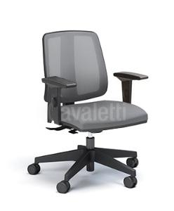 Cadeira para escritório executiva giratória 43103 SRE - Linha Flip - Braço SL - Cavaletti - Aranha Nylon