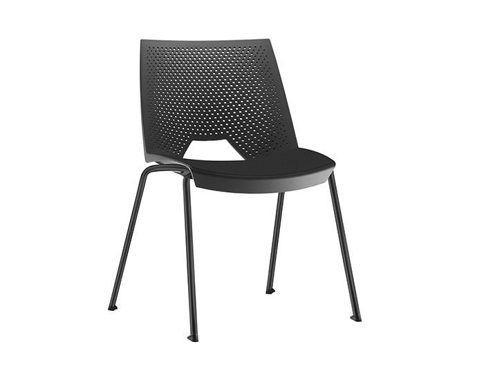 Cadeira Fixa YSTR01 - Base Fixa Preta - Linha Strike - Sem Braço - Frisokar