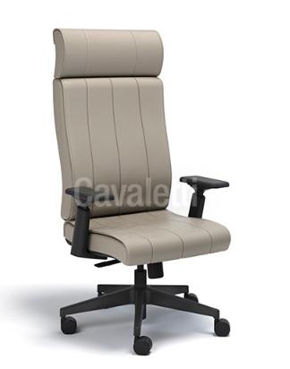 Cadeira para escritório giratória presidente 20501 - Syncron - Linha Essence - BRAÇO 4D - Cavaletti - Base Nylon