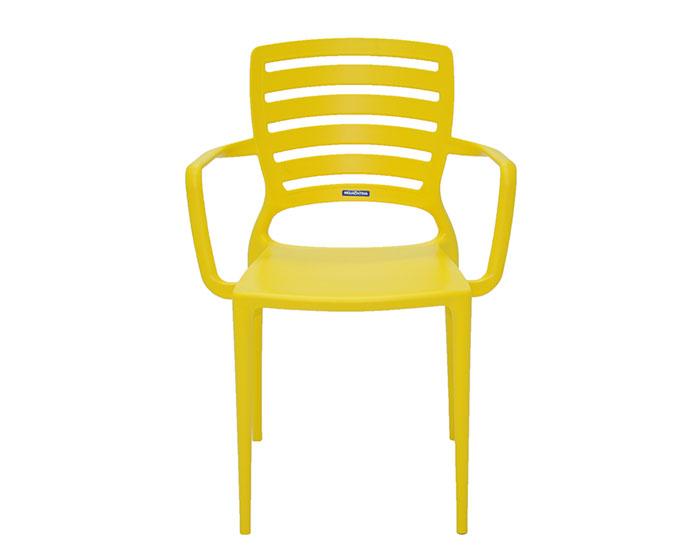 Cadeira Tramontina Sofia com Braços Encosto Vazado Horizontal em Polipropileno e Fibra de Vidro -