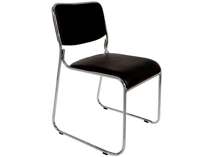Cadeira Fixa - Empilhável - Base Cromada - Sem Braço - Pelegrin