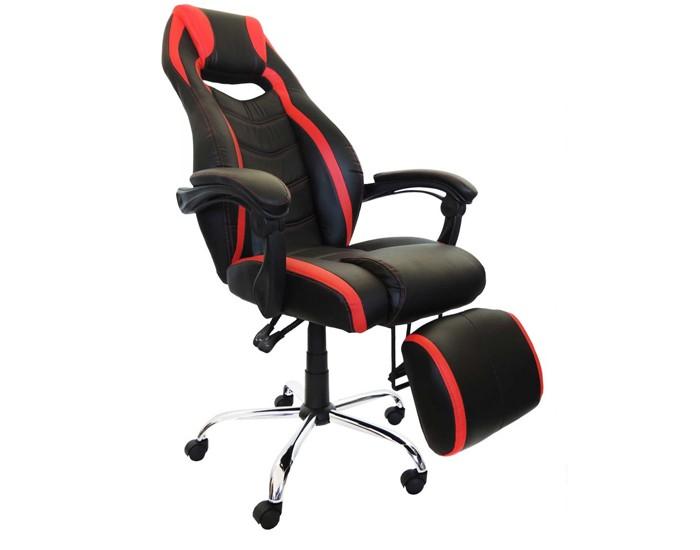 Cadeira Gamer PELC215 - Com Apoio Para Pés - Base Cromada - Relax - Pelegrin
