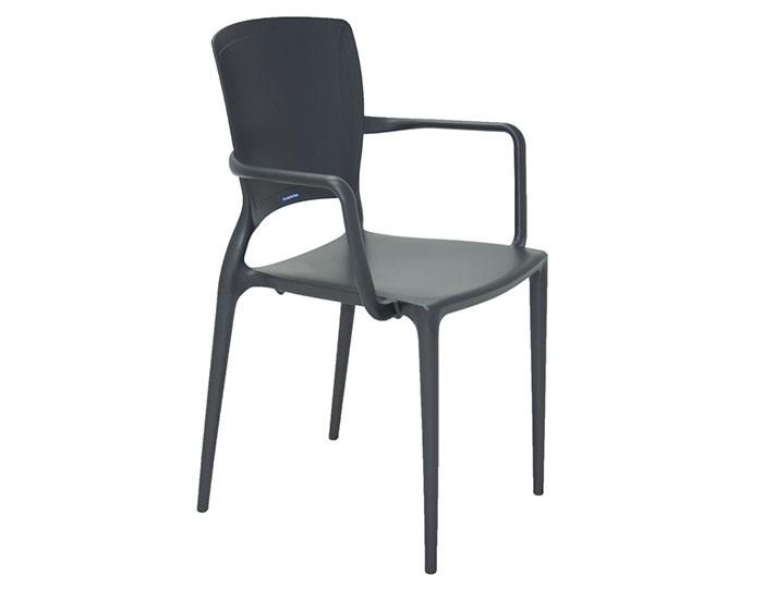 Cadeira Tramontina Sofia com Braços Encosto Fechado em Polipropileno e Fibra de Vidro