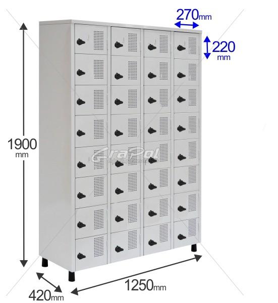 Roupeiro Para Vestiário RGRSP 32 Portas - Com Fecho Porta-Cadeado -  RCH