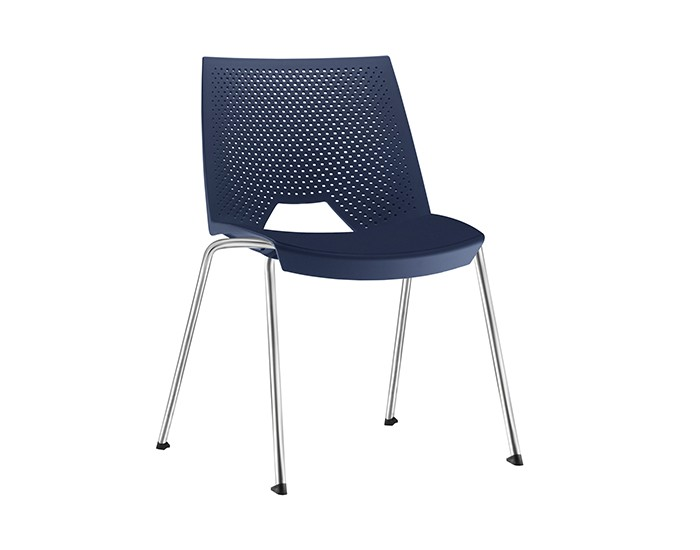Cadeira Fixa YSTR03- Base Fixa Cromada - Linha Strike - Sem Braço - Frisokar