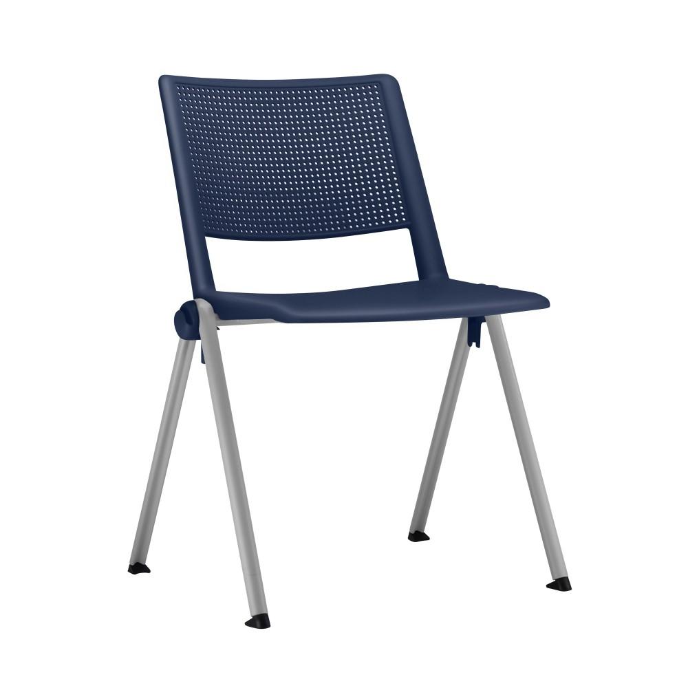 Cadeira Fixa YUP3 - Base Fixa Cinza- Linha Up Fixa - Sem Braço - Frisokar