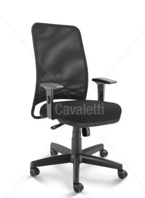 Cadeira para escritório giratória diretor 16002 - Syncron - Linha NewNet - Braço SL - Cavaletti - Base Polaina