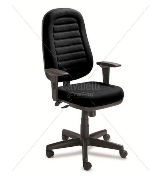 Cadeira para escritório giratória presidente 6001 SRE Braço SL -  Linha Star Plus - Cavaletti - Base Polaina