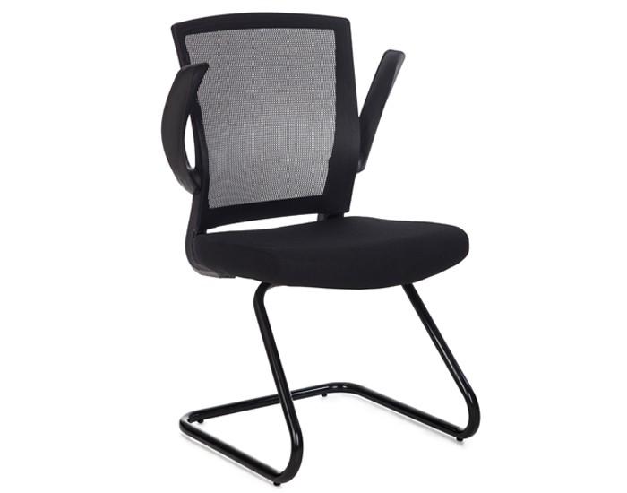 Cadeira Fixa ANM187F - Braço Articulável - Encosto em Tela - Base SKI - Anima Office