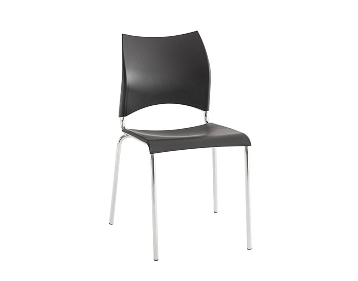 Cadeira 424 - Estrutura em Aço - Assento Quadrado - Estofada - Unimóvel