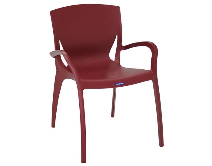 Cadeira Tramontina Clarice com Braços em Polipropileno e Fibra de Vidro