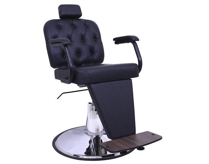 Cadeira Barber Boss - Encosto Reclinável - Com Cabeçote - Base HD Taça Cromada -