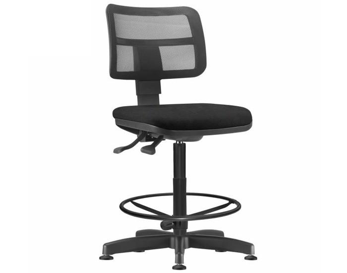 Cadeira Caixa Giratória ZIPCX414 - Sem Braço - Mecanismo Evolution - Base Caixa com Aro - Encosto em Tela  - Linha Job  - Frisokar