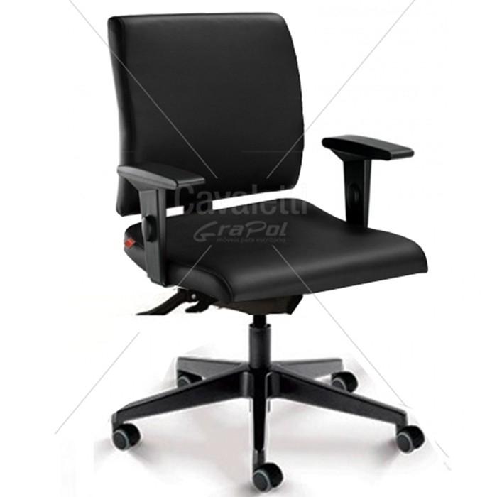 Cadeira para escritório executiva giratória 18004 SRE - Linha Slim - Braço SL - Cavaletti - Base Nylon