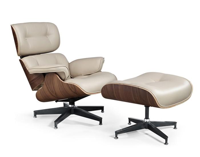 Poltrona Design Charles Eames - Base em Alumínio - Revestimento em Courino - Anima Home & Office
