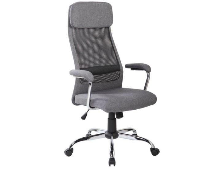 Cadeira Presidente - Encosto em Tela - Com Apoio Lombar - Base Cromada - Relax - Pelegrin
