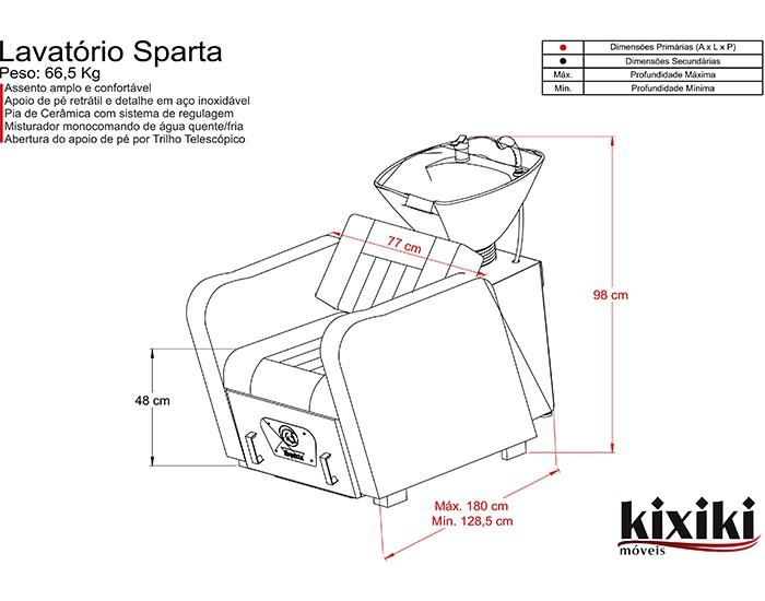 Lavatório para Salão de Beleza  Sparta -