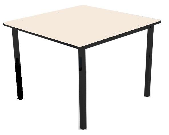 Mesa infantil (1 à 5 anos) Branco ou Bege - 800mm x 800mm - Dellus