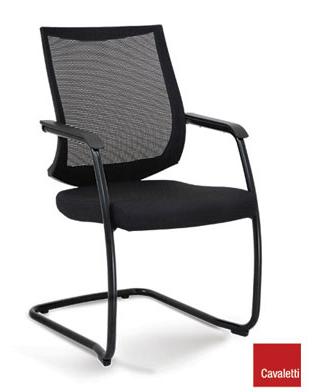 Cadeira para escritório fixa Aproximação 27006 SL ESTRUTURA PRETA - Linha Air - Cavaletti