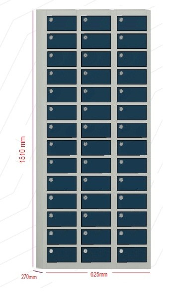 Porta objetos - 42 portas sobrepostas com FECHADURA  -  1510mm alt  X 625 mm larg X 270 mm prof
