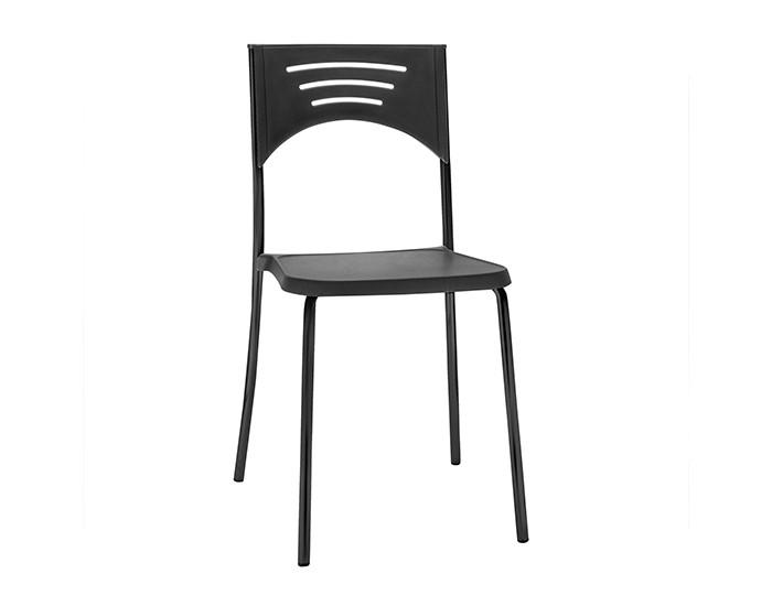 Cadeira Fixa BLISS01- Base Fixa Preta- Linha Bliss - Sem Braço - Frisokar