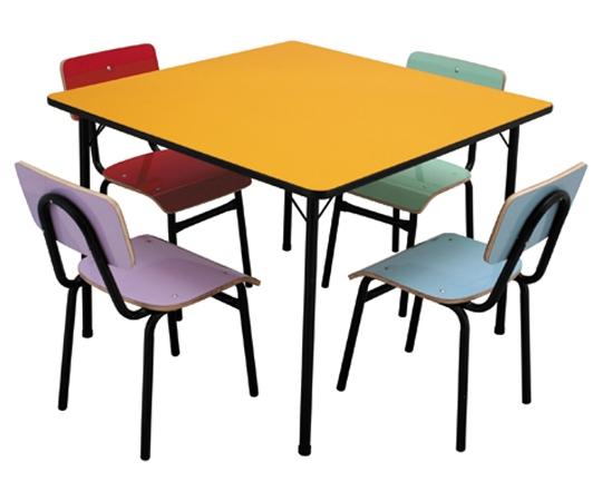Conjunto de mesa juvenil (6 à 10 anos) colorido - Dellus