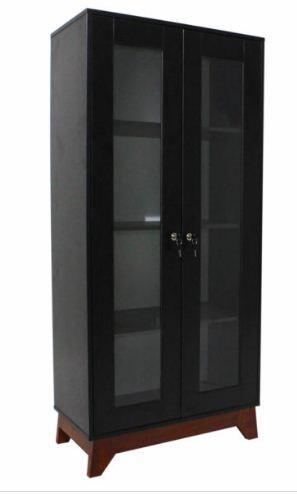 Armário Vitrine - Porta em Vidro - 03 Prateleiras Internas - Kixiki Móveis -
