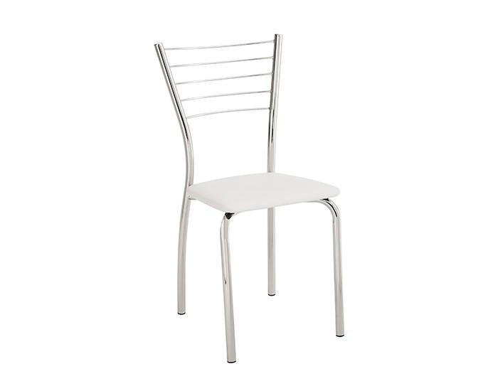 Cadeira 428 em Aço - Assento Quadrado - Estofada - Unimóvel